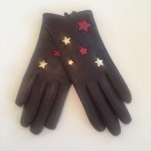 TOPSHOP Metallic Star Gloves